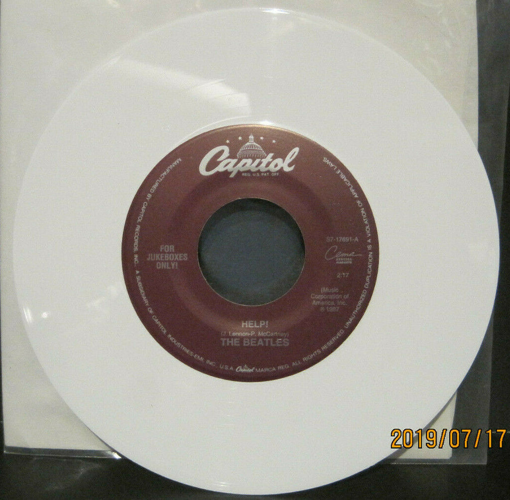 BEATLES - Help / I'm Down - Capitol Juke Boxes Only 45rpm on White Vinyl NM