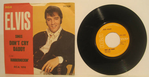Elvis Presley - Don't Cry Daddy / Rubberneckin' U.K. RCA w/ PS