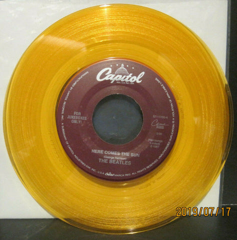 BEATLES - Here Comes The Sun / Octopus's Garden - Capitol Juke Boxes Only 45 on Yellow Vinyl NM