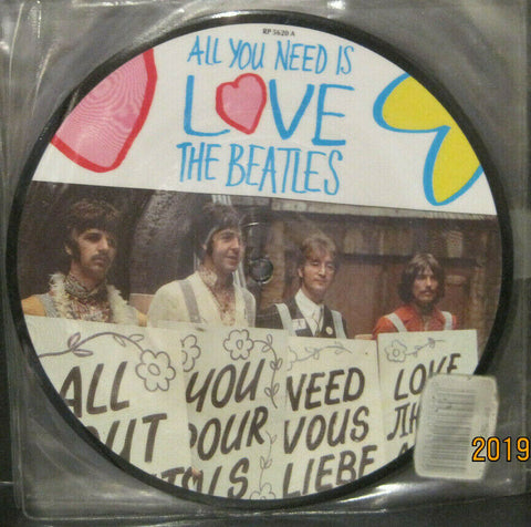 "BEATLES - All You Need Is Love - 20th Anniversary 7"" Picture Disc UK Pressing"