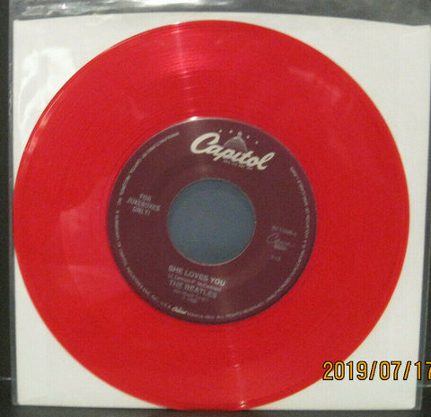 BEATLES - She Loves You / I'll Get You - Capitol Juke Boxes Only 45rpm on Red Vinyl NM