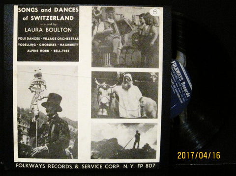 Various: Laura Boulton - Songs and Dances of Switzerland - 1953 Folkways 10""