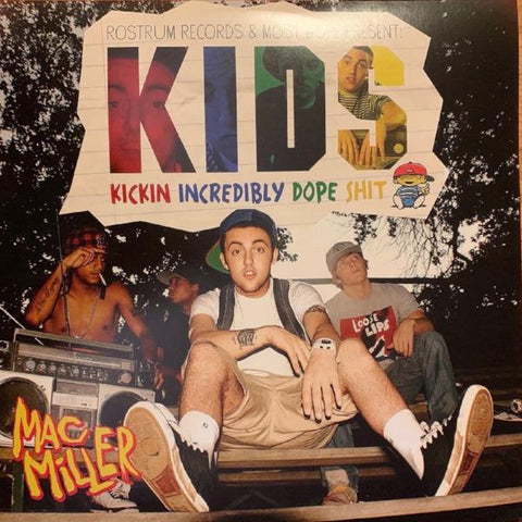 Mac Miller - KIDS (Kickin Incredibly Dope Shit) [Mixtape] 2 LP set on clear vinyl!