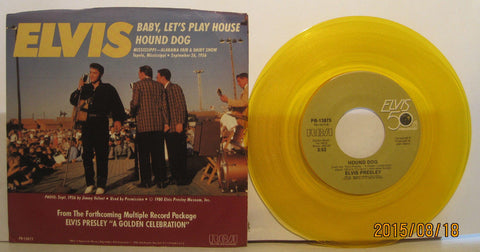 Elvis Presley - Baby Let's Play House / Hound Dog - Colored vinyl w/ PS