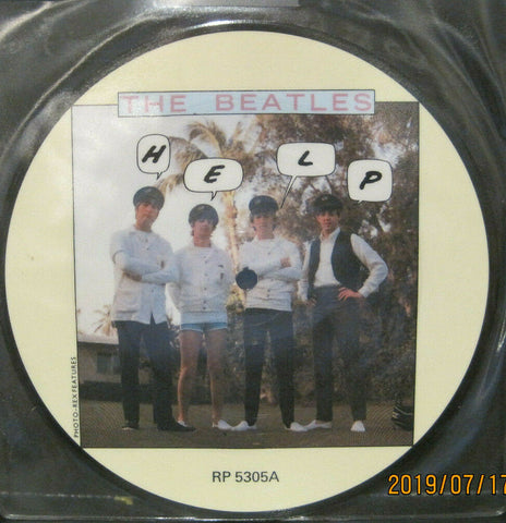 "BEATLES - HELP - 20th Anniversary 7"" Picture Disc UK Pressing"
