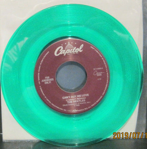 BEATLES - Can't But Me Love / You Can't Do That - Capitol Juke Boxes Only 45rpm on Green Vinyl NM