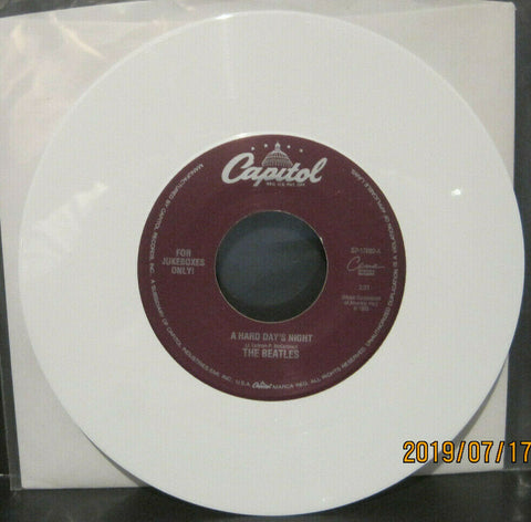 BEATLES - A Hard Day's Night / Things We Said Today - Capitol Juke Boxes Only 45rpm on White Vinyl NM