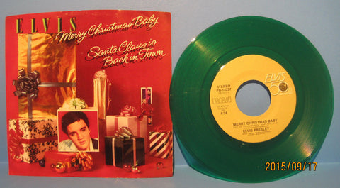 Elvis Presley - Merry Christmas Baby on Green Vinyl w/ PS