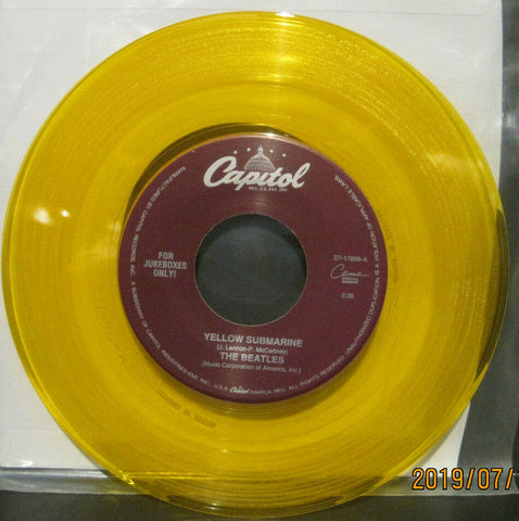 BEATLES - Yellow Submarine / Eleanore Rigby - Capitol Juke Boxes Only 45rpm on Yellow Vinyl NM