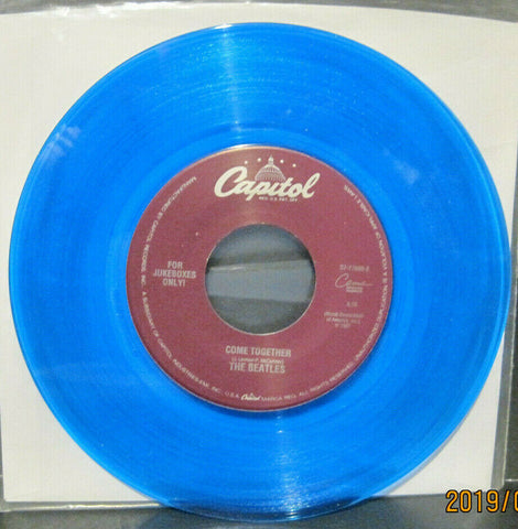 BEATLES - Something / Come Together - Capitol Juke Boxes Only 45rpm on Blue Vinyl NM