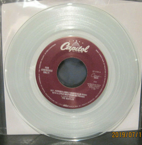 BEATLES - Sgt. Pepper's / A Day in the Life - Capitol Juke Boxes Only 45rpm on Clear Vinyl NM
