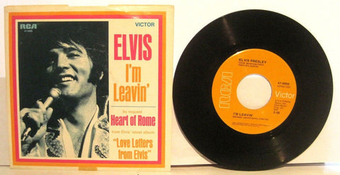 Elvis Presley - I'm Leavin / Heart of Rome w/ PS