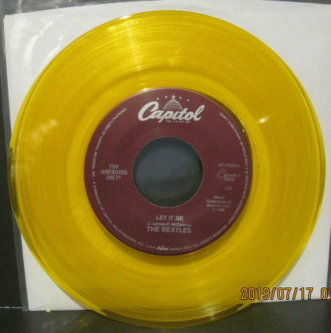 BEATLES - Let It Be / You Know My Name - Capitol Juke Boxes Only 45rpm on Yellow Vinyl NM