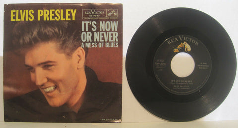 Elvis Presley - It's Now or Never b/w A Mess of Blues w/ PS