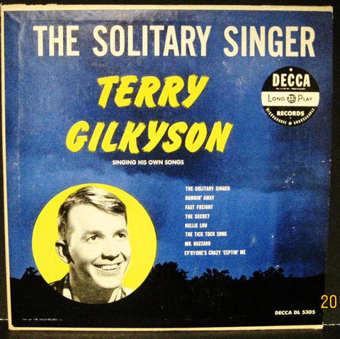 "Terry Gilkyson ""The Solitary Singer"" 10"" Lp"