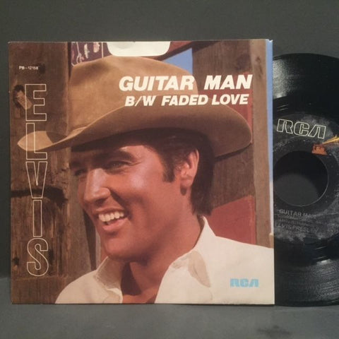 Elvis Presley - Guitar Man b/w Faded Love w/ PS