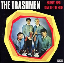 Trashmen - Surfin' Bird / King of the Surf - Yellow vinyl w/ PS