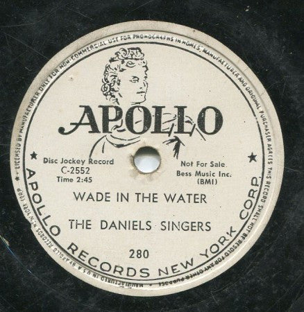 Daniels Singers - Wade in the Water / I'm Leaning