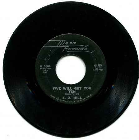 Z. Z. Hill - The Right to Love/ Five will get you Ten