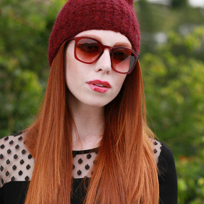 Burgundy Trendy Sunglasses