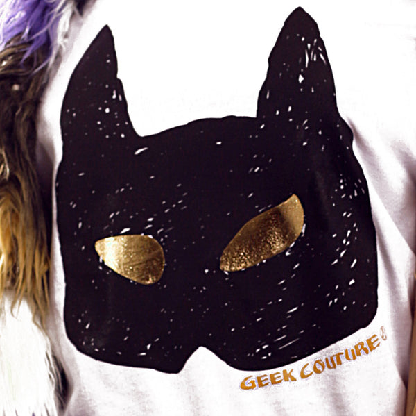 Wild Cat With Gold Eyes Handmade T-Shirt
