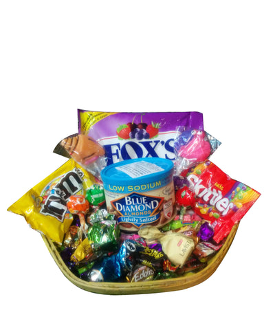 Raja Ji Fox's, Blue Diamond Almonds, Lolipop Gift Basket - 8001092