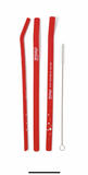 Reusable Coca-Cola Fizz Straw  – 3 PACK: Reusable, non-stick, silicone drinking straws (in home-compostable packaging)