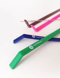 "Reusable Koffie Straw 4-PACK: Green, Mocha, Navy, Pink,  (all 10"") with brush (in compostable packaging)"