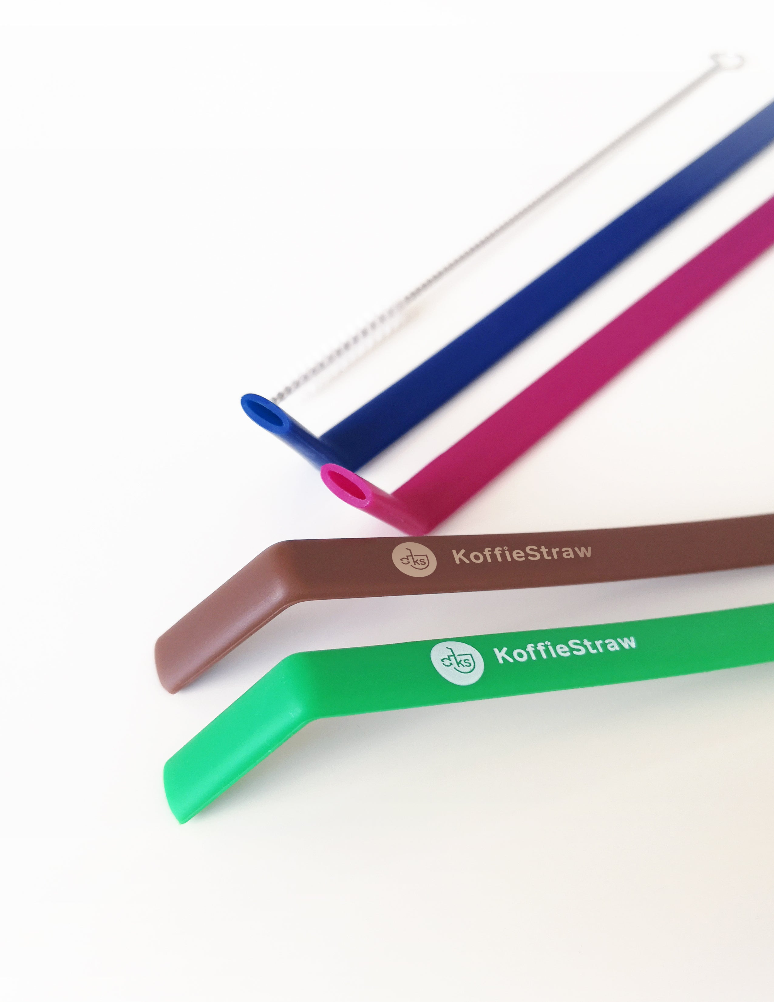 "4-PACK: Green, Mocha, Navy, Plum,  (all 10"") with brush (in compostable packaging)"