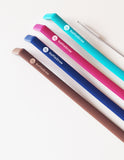 "Reusable Koffie Straw 4-PACK: Mocha, Navy, Plum, Surf (all 10"") with brush (in compostable packaging)"