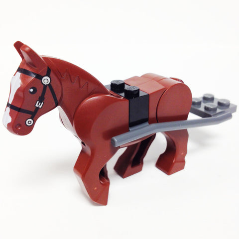 "MinifigurePacks: Lego City/Town Bundle ""(1) HORSE"" ""(1) HORSE HITCHING"" ""(1) SADDLE BRICK"""