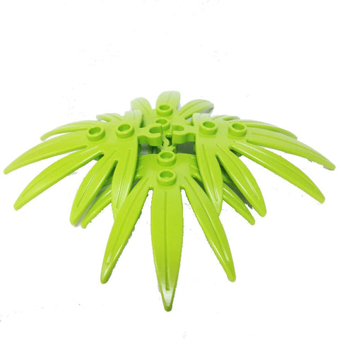Lego Parts: Plant Leaves 6 x 5 Swordleaf with Clip (PACK of 4 - Lime Leaves)