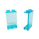 Lego Parts: Panel 1 x 2 x 3 - Solid Studs (PACK of 2 - Transparent Light Blue)