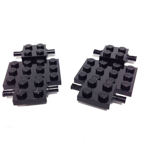 Lego Parts: Vehicle, Base 4 x 7 x 2/3 (PACK of 2 - Black)