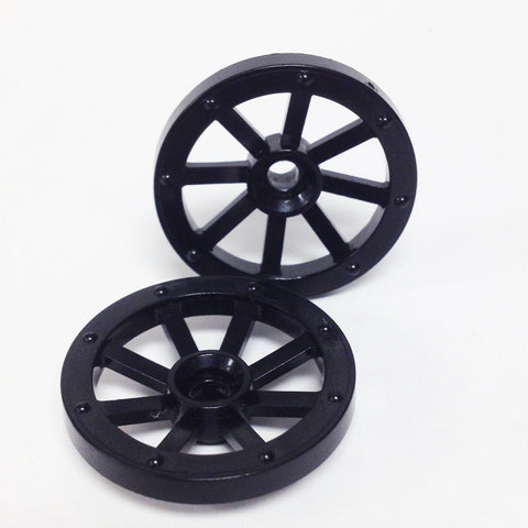 Lego Parts: Wagon Wheel - Small 27mm Diameter (PACK of 2 - Black)