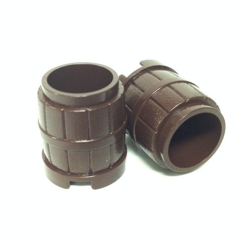 Lego Parts: Container, Barrel 2 x 2 x 2 Studs (PACK of 2 - Dark Brown)