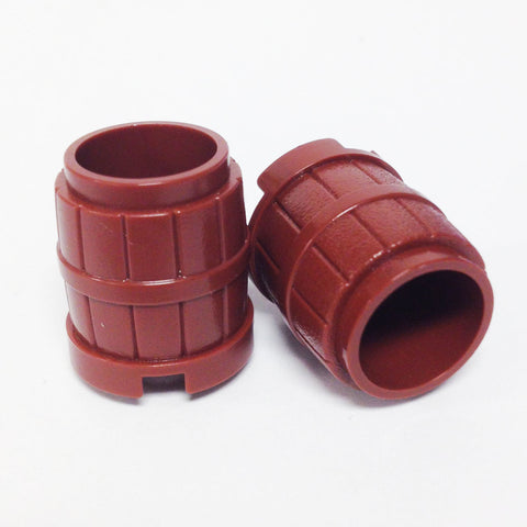 Lego Parts: Container, Barrel 2 x 2 x 2 (PACK of 2 - Reddish Brown)