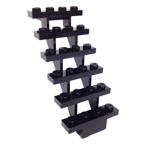 Lego Parts: Stairs 7 x 4 x 6 Straight Open (Black)