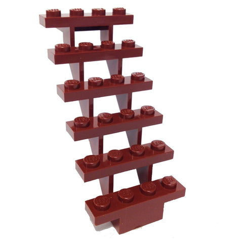Lego Parts: Stairs 7 x 4 x 6 Straight Open (Reddish Brown)