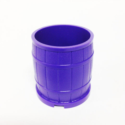 Lego Parts: Container, Barrel 4 x 4 x 3 1/2 Studs (Dark Purple)