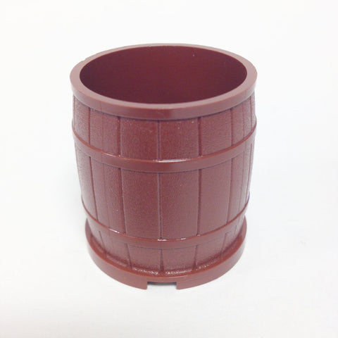 Lego Parts: Container, Barrel 4 x 4 x 3 1/2 Studs (Reddish Brown)