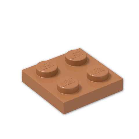 LEGO® Parts: Plate 2 x 2 #3022 (Pack of 12)