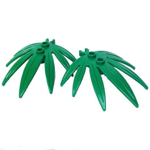 Lego Parts: Plant Leaves 6 x 5 Swordleaf with Clip (PACK of 2 - Green Leaves)
