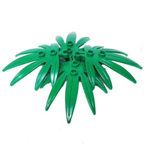 Lego Parts: Plant Leaves 6 x 5 Swordleaf with Clip (PACK of 4 - Green Leaves)