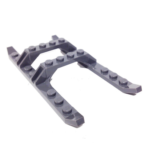 Lego Parts: Helicopter Sled Rails 12 x 6 (DBGray)