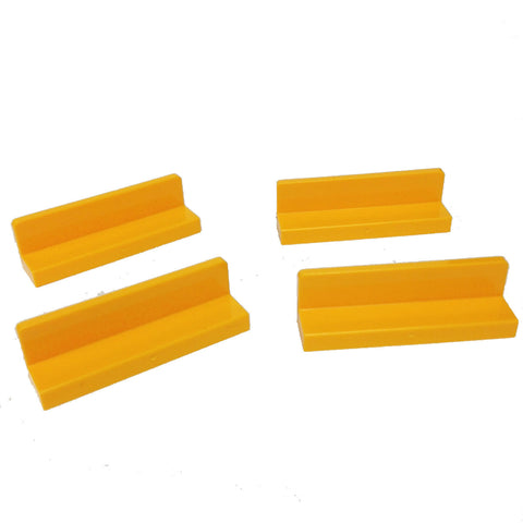 Lego Parts: Panel 1 x 4 x 1 (PACK of 4 - Bright Light Orange)