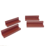 Lego Parts: Panel 1 x 4 x 1 (PACK of 4 - Reddish Brown)