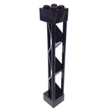 Lego Parts: Support 2 x 2 x 10 Girder Triangular Vertical - Type 1 Solid Top - 3 Posts (Black)