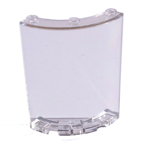 Lego Parts: Cylinder Quarter 4 x 4 x 6 (Transparent Clear)