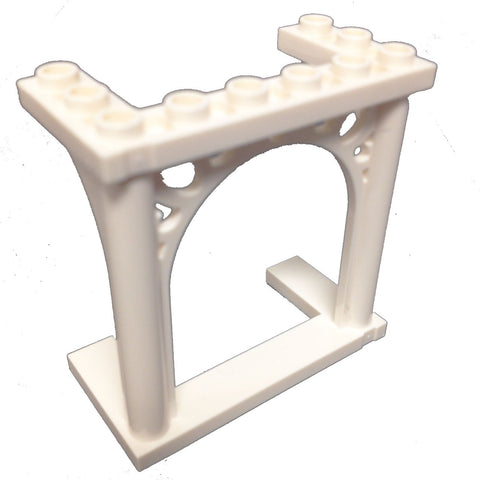 Lego Parts: Brick, Arch 3 x 6 x 5 Ornamented (White)